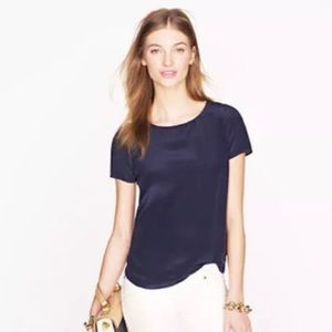 Olivaceous Navy Short Sleeve Blouse